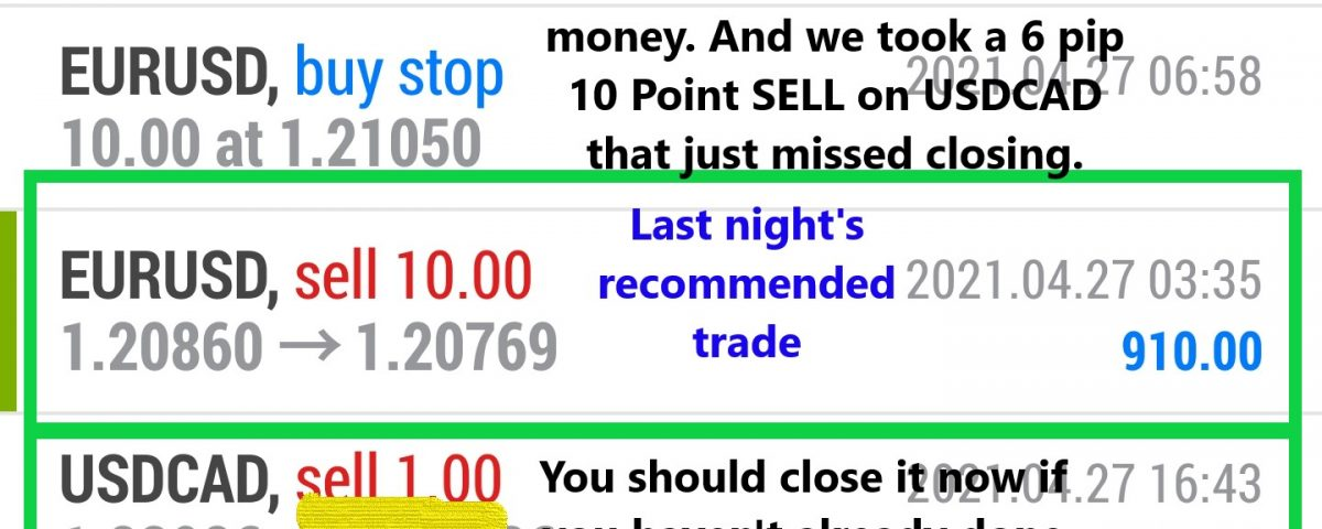 Forex trading class